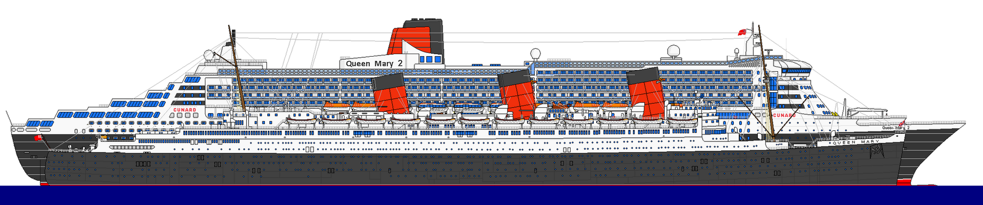 RMS QUEEN MARY 1 AND 2 by dale88rules