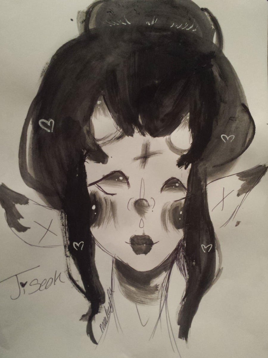 first time painting traditionally ! by oemei