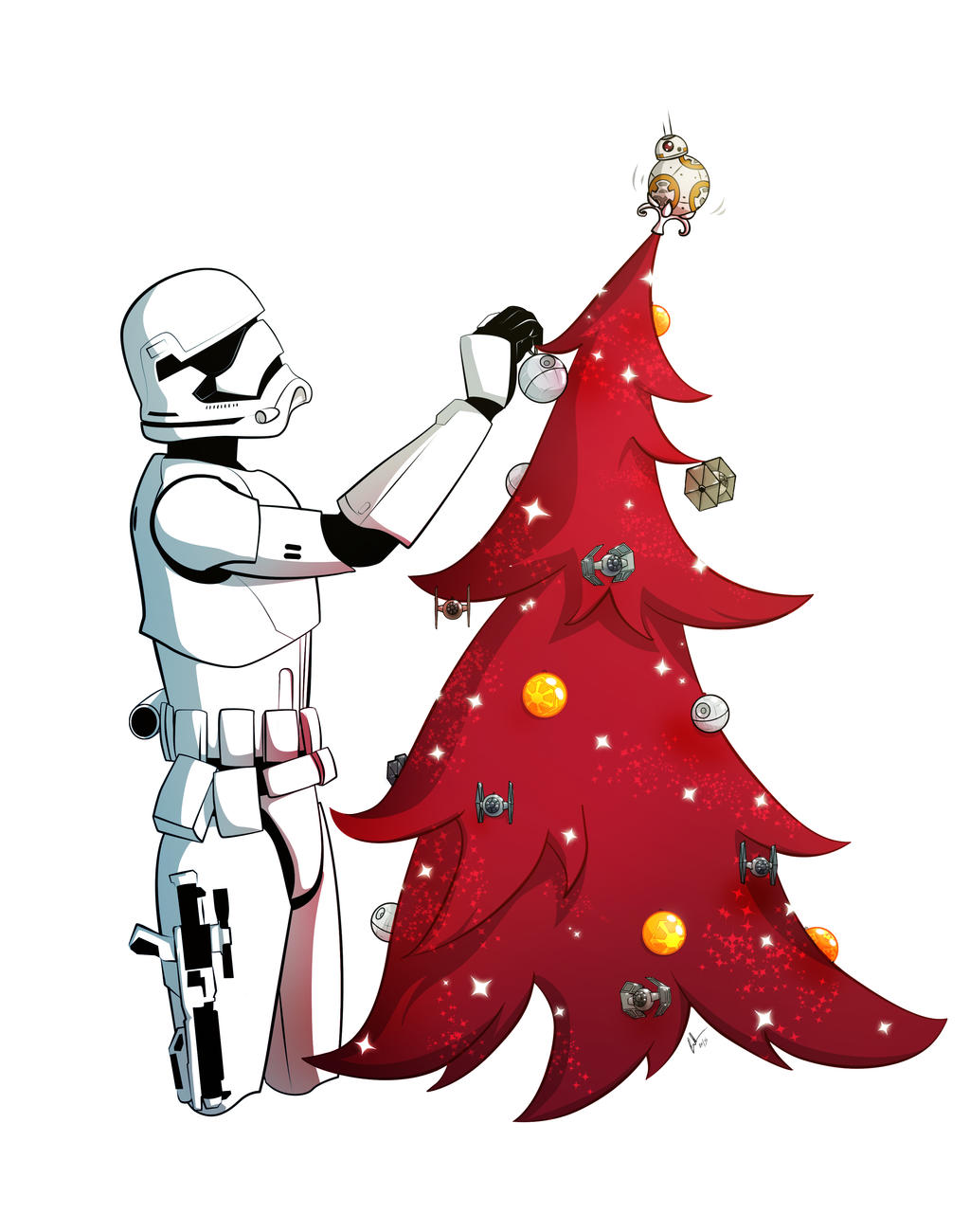 a merry star wars christmas by kilowhat on deviantart
