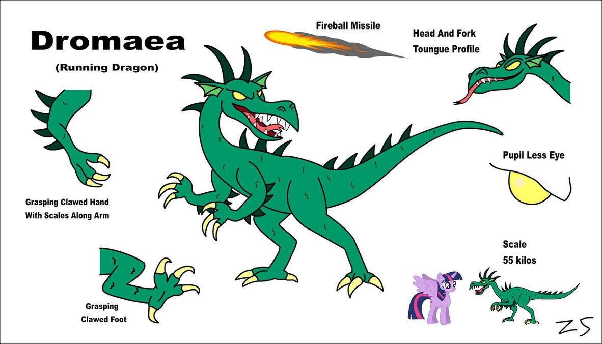 MLP's The Dromaea Running Dragon Concept Art by Zacharygoblin55