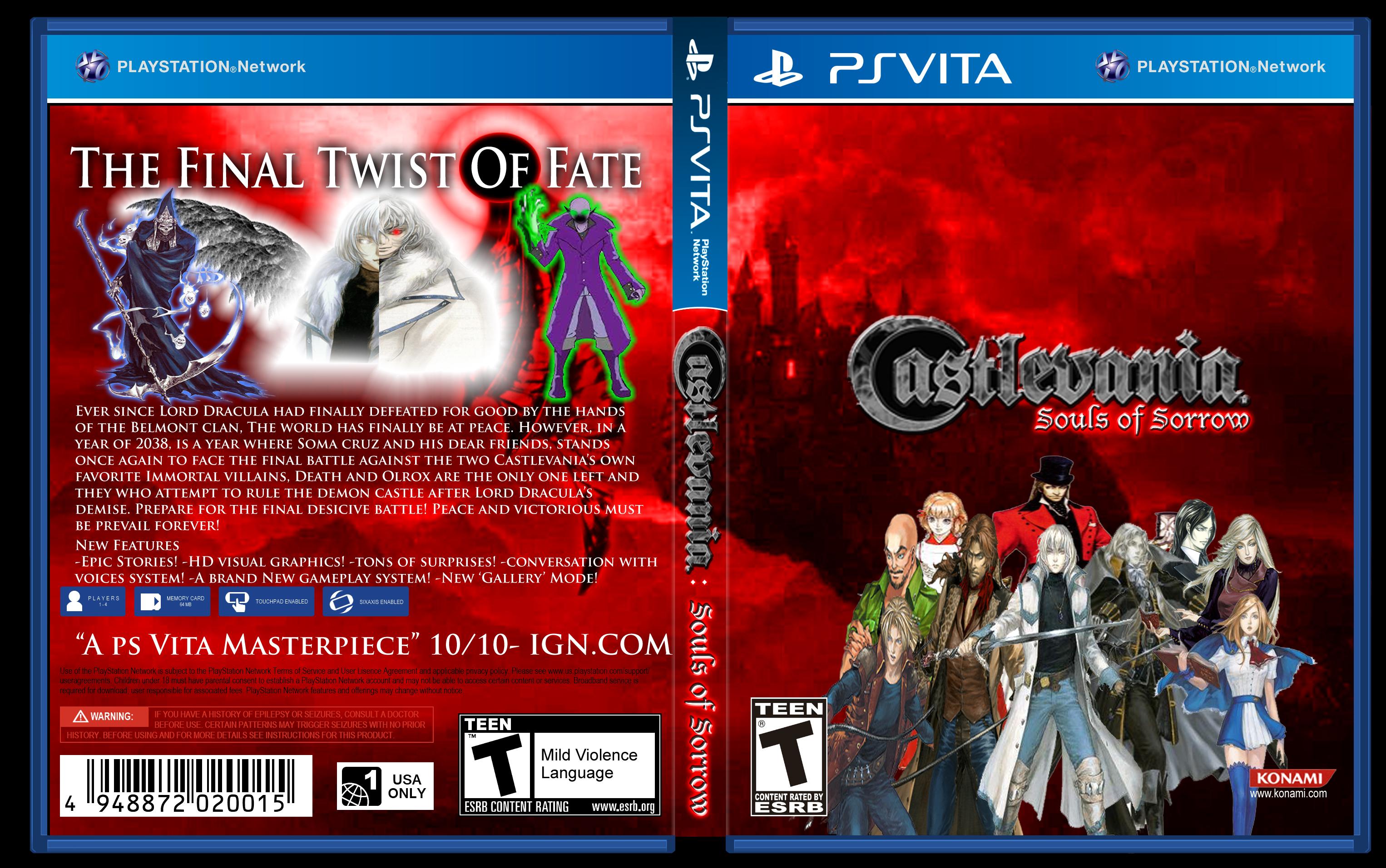 PS VITA- Castlevania: Souls of Sorrow