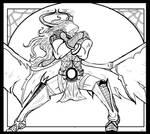 Vaelve Darkrose - Line Art