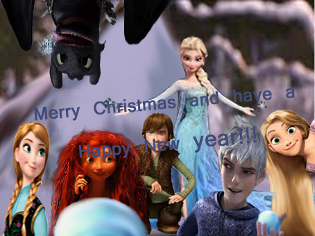 Rotbtd And Frozen Merry Christmas By Pbepie