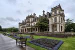 Dyffryn Gardens in the rain stock 2