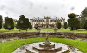 Dyffryn Gardens in the rain stock 3