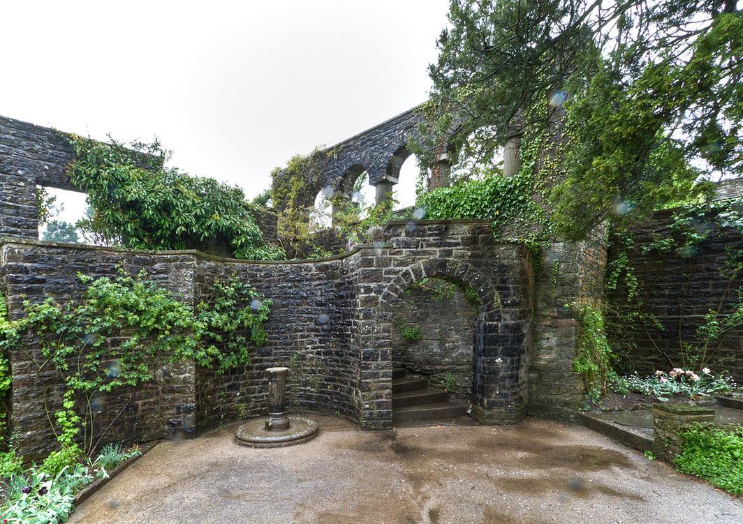 Dyffryn Gardens in the rain stock 7 by AlexanderHuebner
