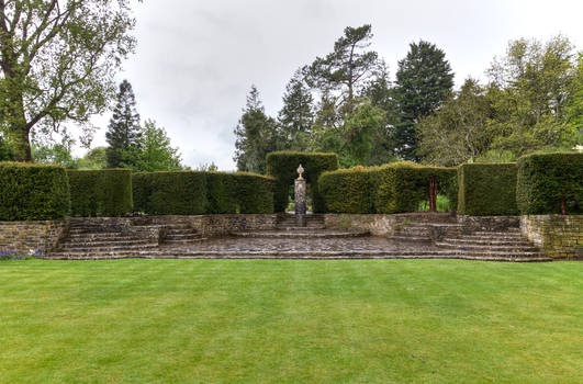 Dyffryn Gardens in the rain stock 11