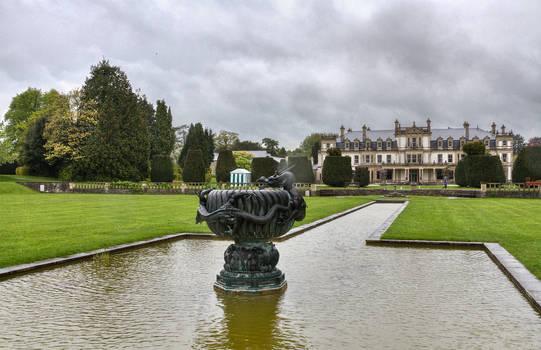 Dyffryn Gardens in the rain stock 12