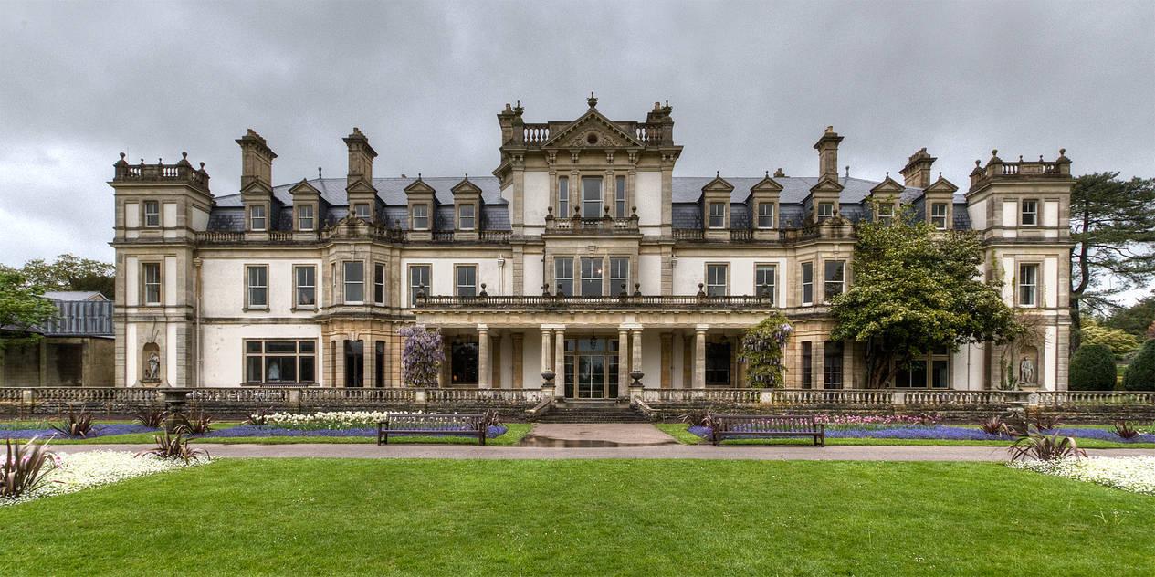 Dyffryn Gardens in the rain stock 13