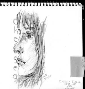 self-portrait, profile view