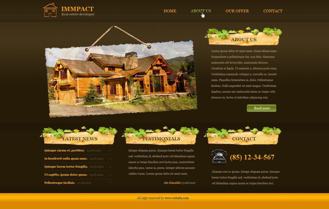 Immpact - real estate develope by michal09