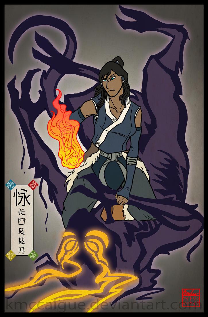 The Avatar - Ukiyo-e style Korra by kmccaigue