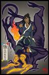 The Avatar - Ukiyo-e style Korra