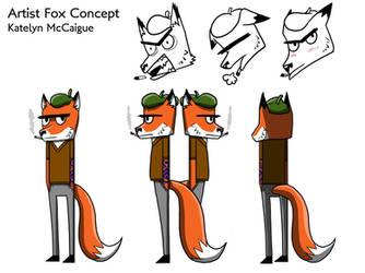 Art Fox Character Sheet by kmccaigue