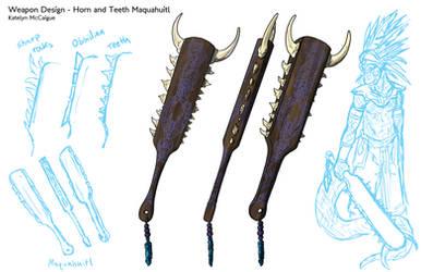 Weapon Design Sheet by kmccaigue