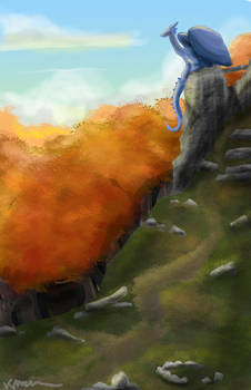 Castle Ruins Scenery Painting