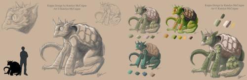 Kappa Full Creature Sheet by kmccaigue