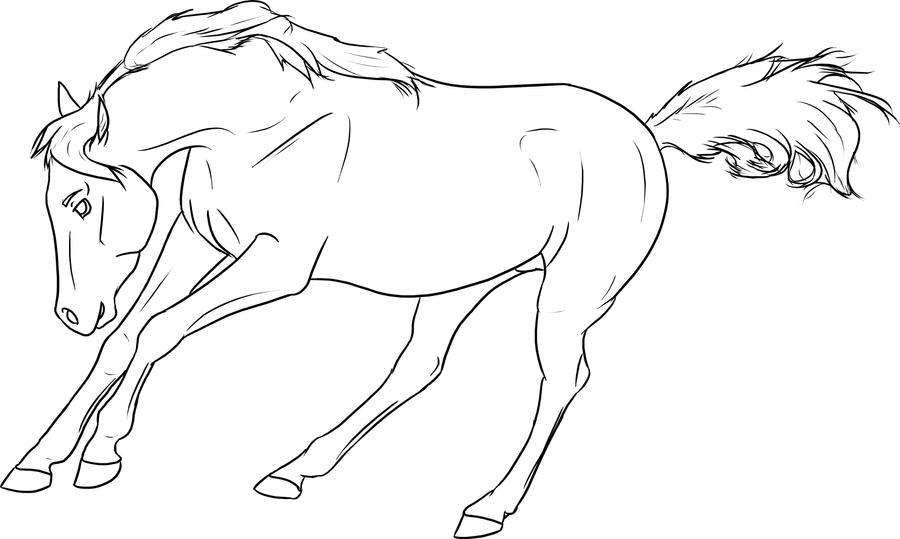 Free lineart running arabian by baringa of the wind on for Coloring pages of horses running