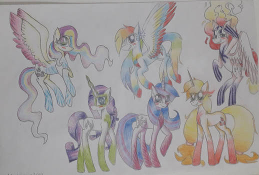 Mlp:Mane six with the new powers