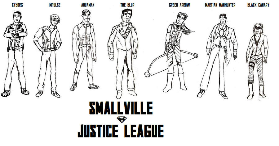 Smallville justice league by natduv on deviantart for Justice league printable coloring pages