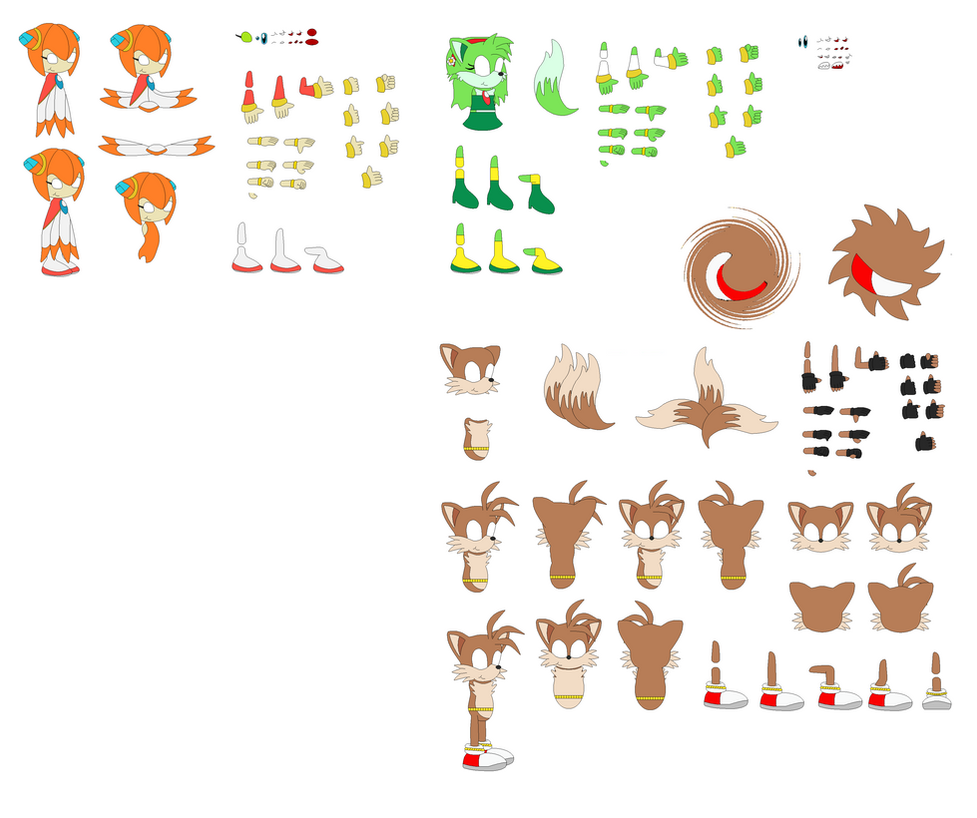Carly's Tailsmo Children (Character Builder) by TreeofLife911