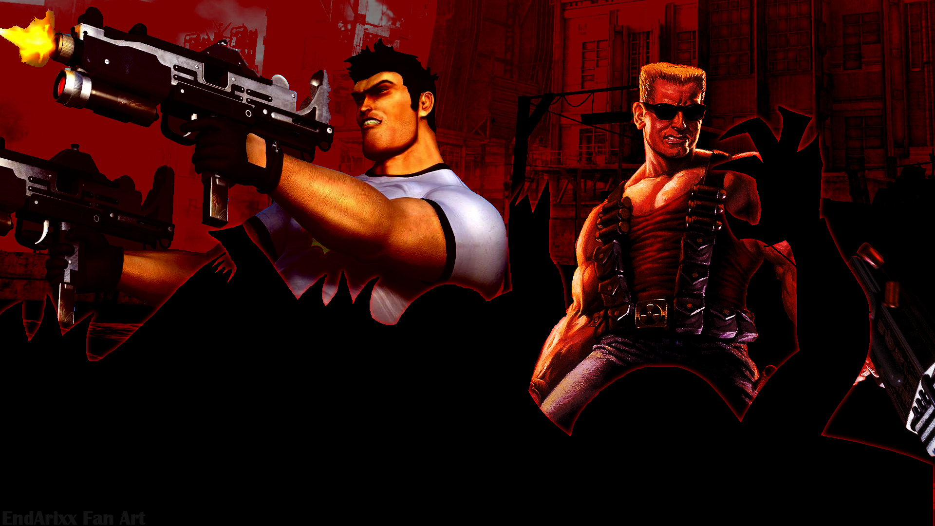 Duke Nukem And Serious Sam By EndArixx