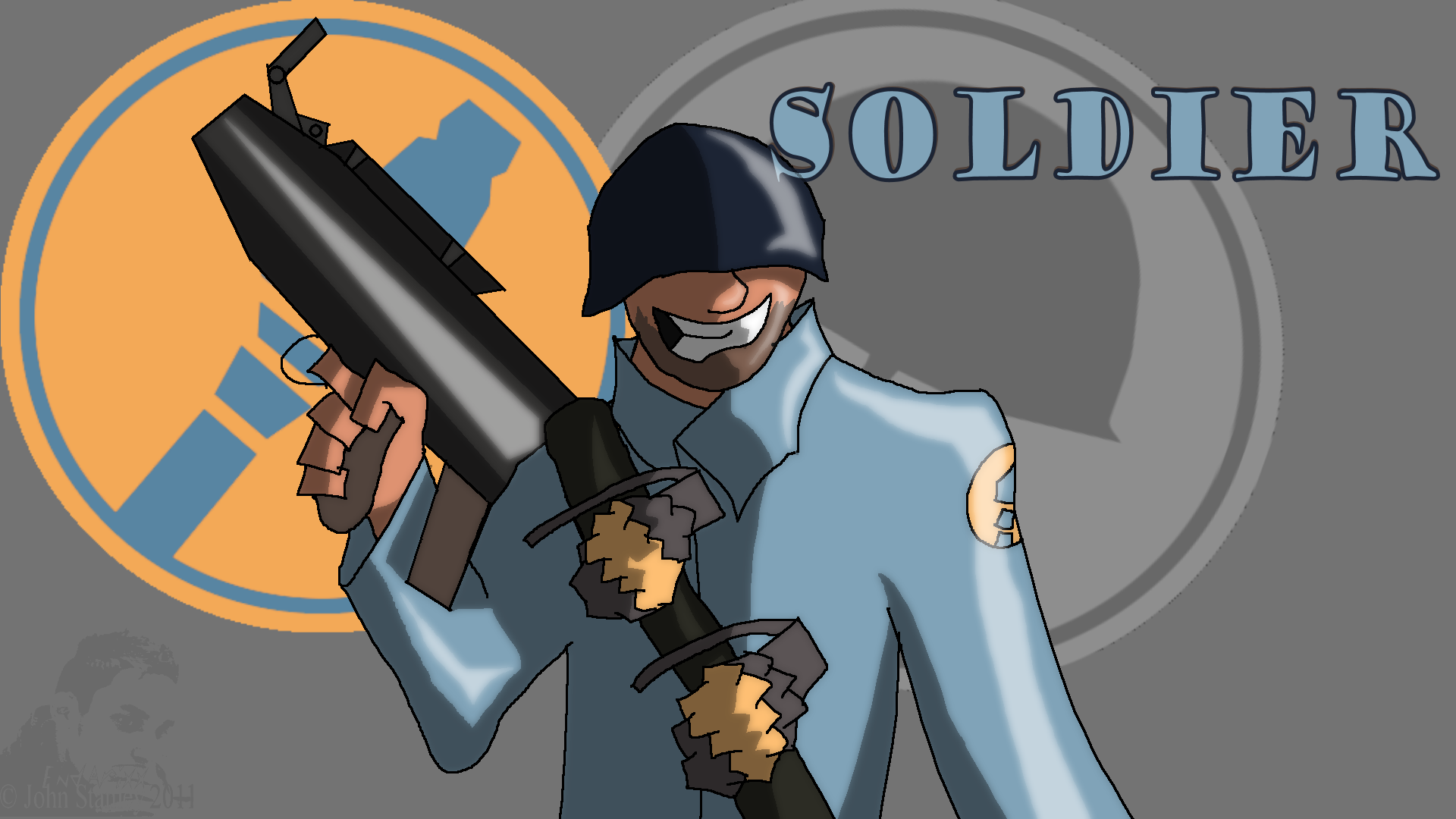 TF2 blu Soldier by End...