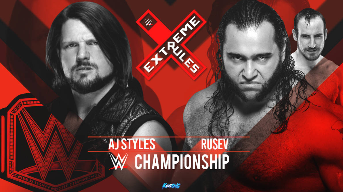 Extreme Rules 2018 MatchCard Replica By: KalistOMG by KalistOMG on