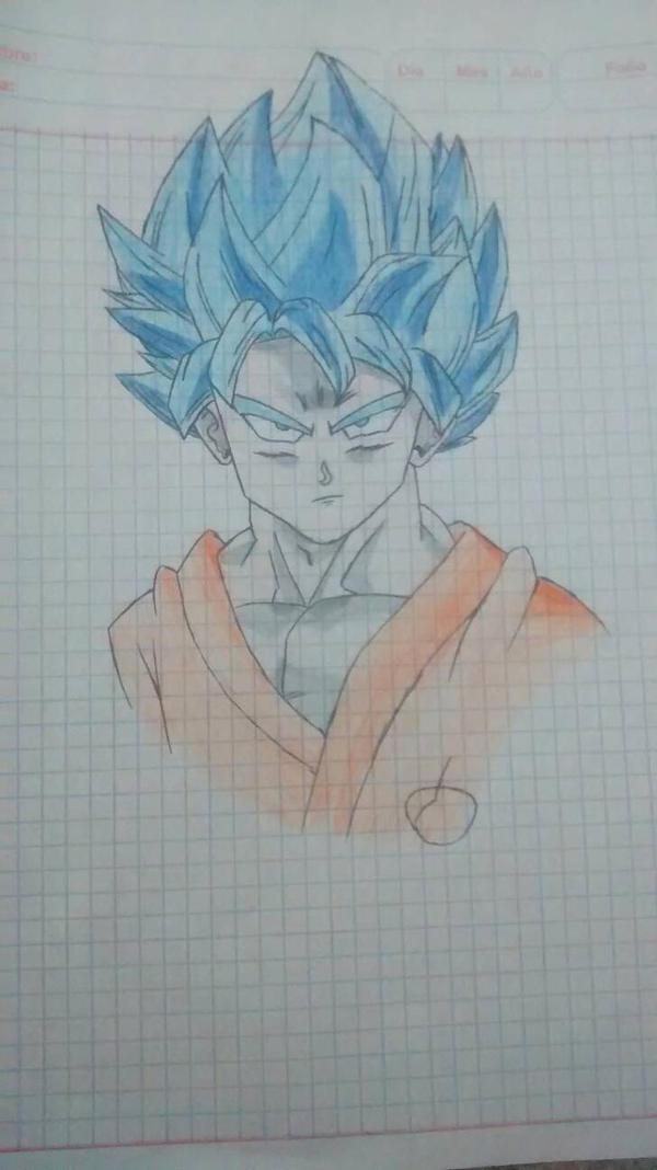 Goku SSGSS :v  by DiegoVillegasDV