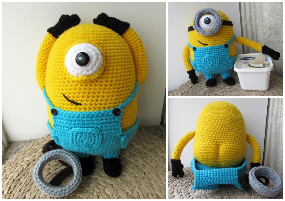 Crochet Minion Amigurumi Pattern | AllFreeCrochet.com | 662x936