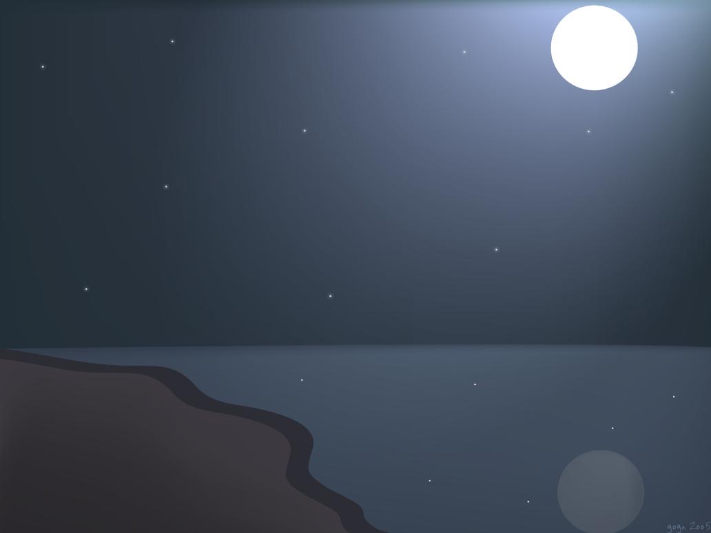 beach at night by arturog