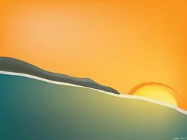 sunset beach by arturog