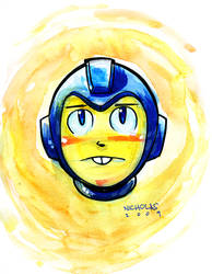 MEGA MAN watercolor