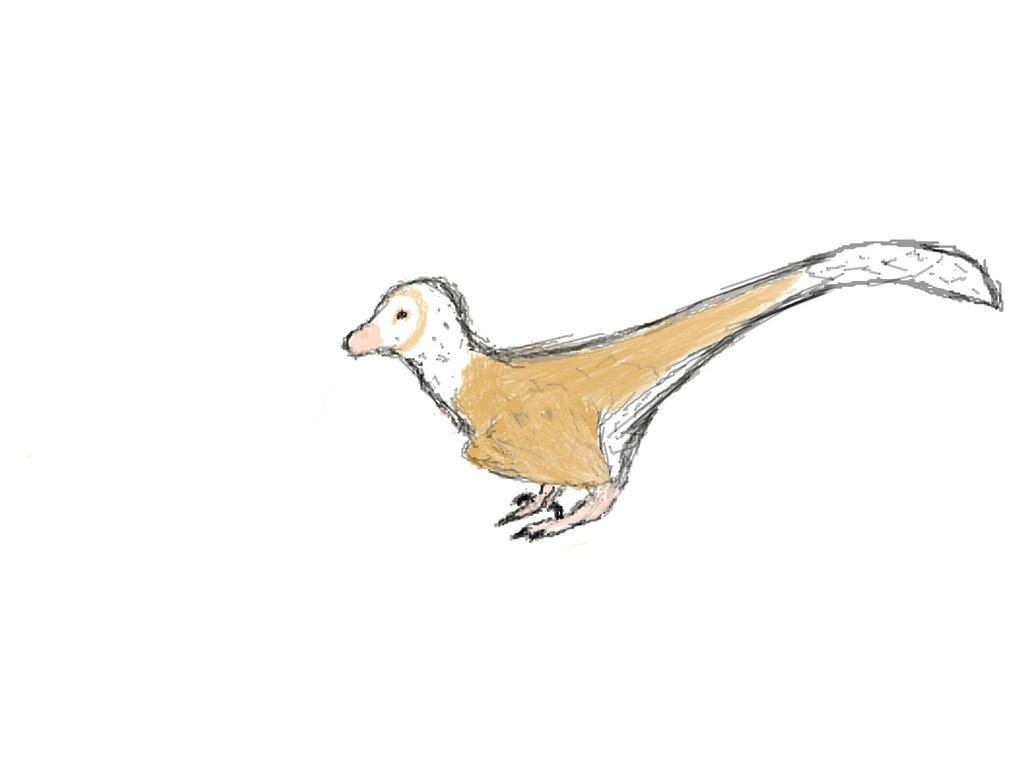 Velociraptor sketch by E-C-H-O-O-O