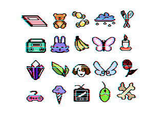 fankid symbols - 50 points by chaoticsprites
