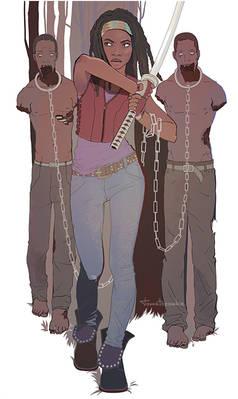 The Walking Dead. Michonne