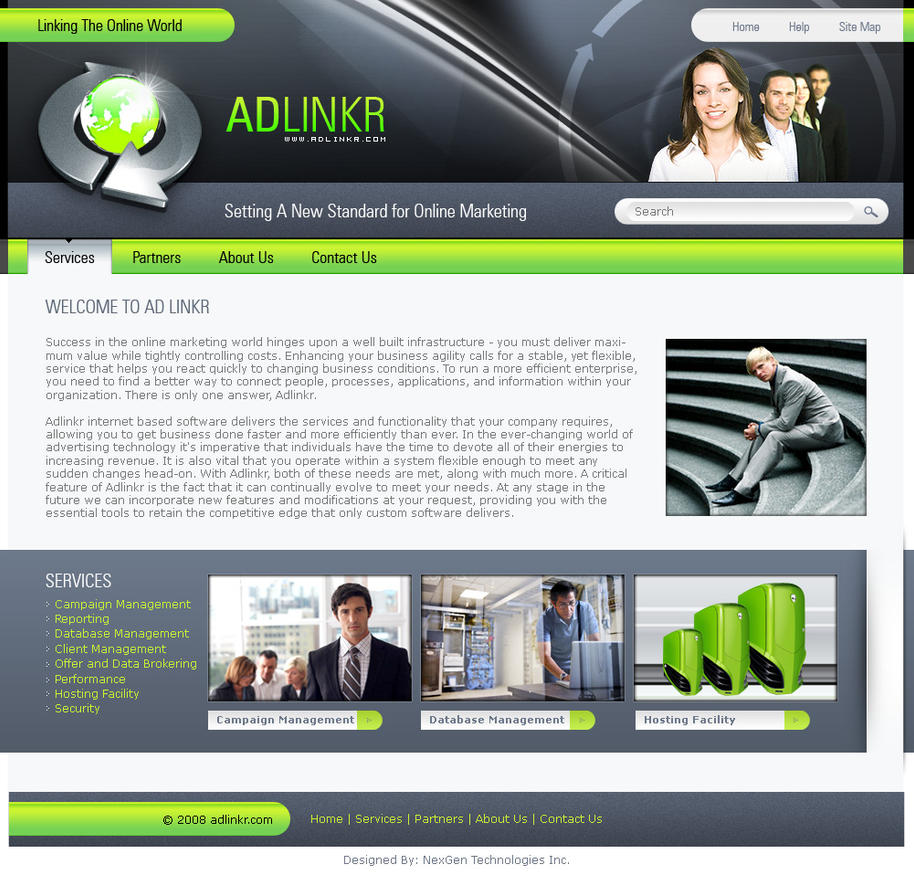 Adlinkr Website Design by zaib