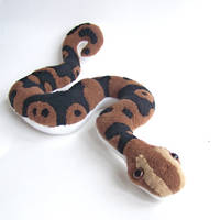ball python plush by WeirdBugLady