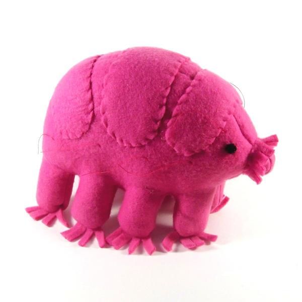 Hot pink tardigrade by WeirdBugLady