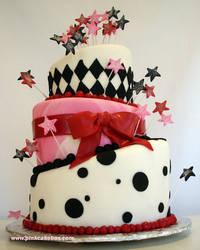 Topsy Turvey Birthday Cake by pinkcakebox