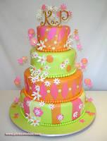 Whimsical Wedding Cake by pinkcakebox