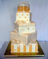 Gift Box Wedding Cake by pinkcakebox