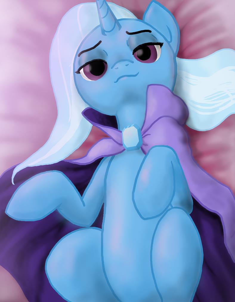 Trixie on Her Back by Darkonix