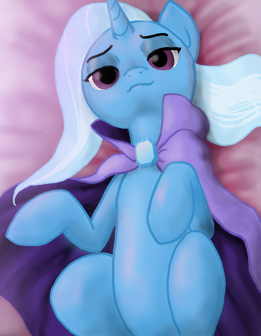 Trixie on Her Back by Darkonix