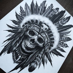 Skull/Headdress by herrerabrandon60