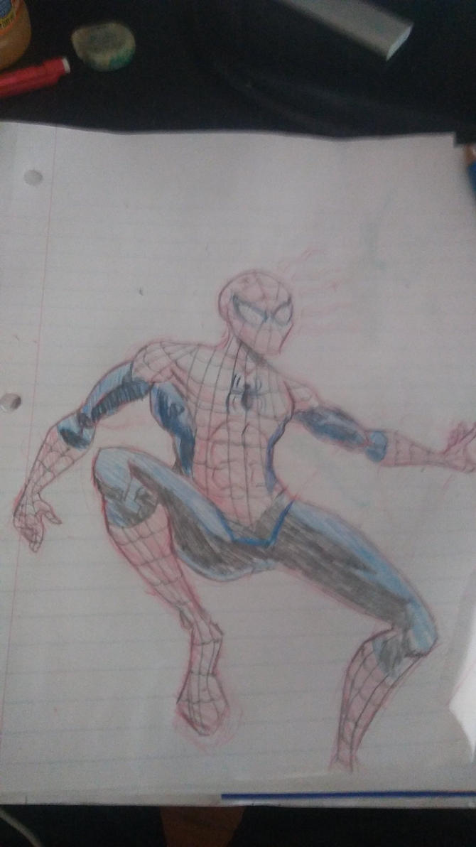Spider-Man Sketch by NinjaOnAcid