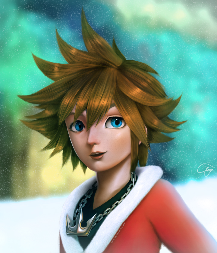 SORA - Kingdom Hearts (Commission) by tendou