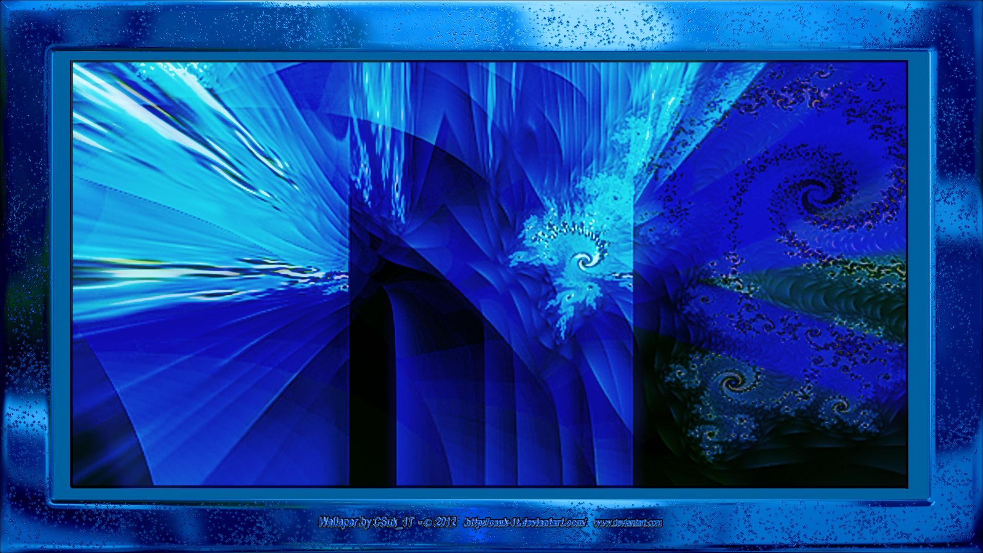 Cobalt Blue Abstract Wallpaper: COBALT + GUN METAL BLUE (Tryptich) By CSuk-1T On DeviantART