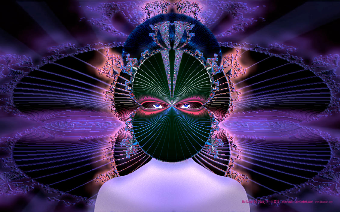 THE GEISHA in the FRACTAL MASK by CSuk-1T