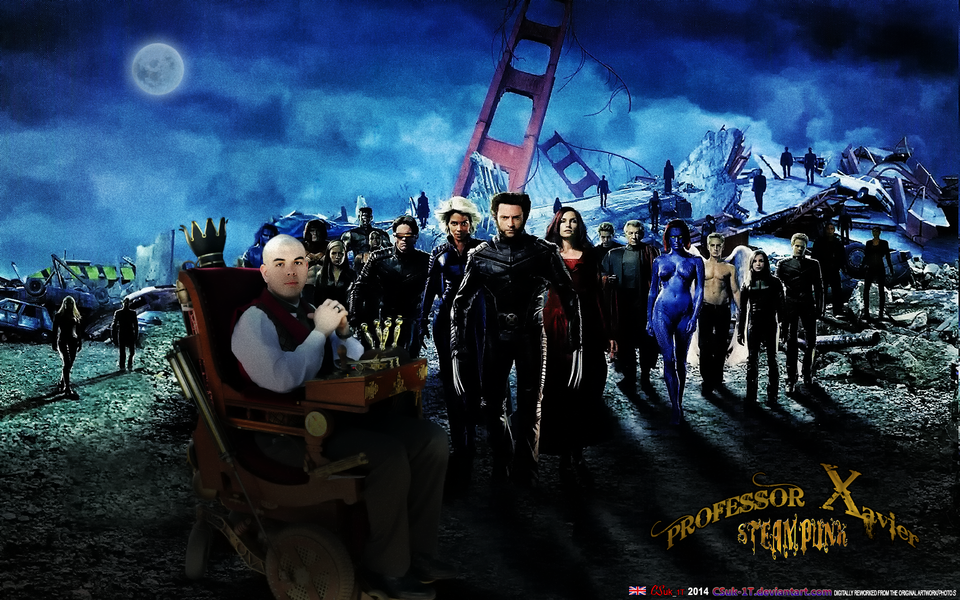 STEAMPUNK X-MEN: PROFESSOR XAVIER by CSuk-1T